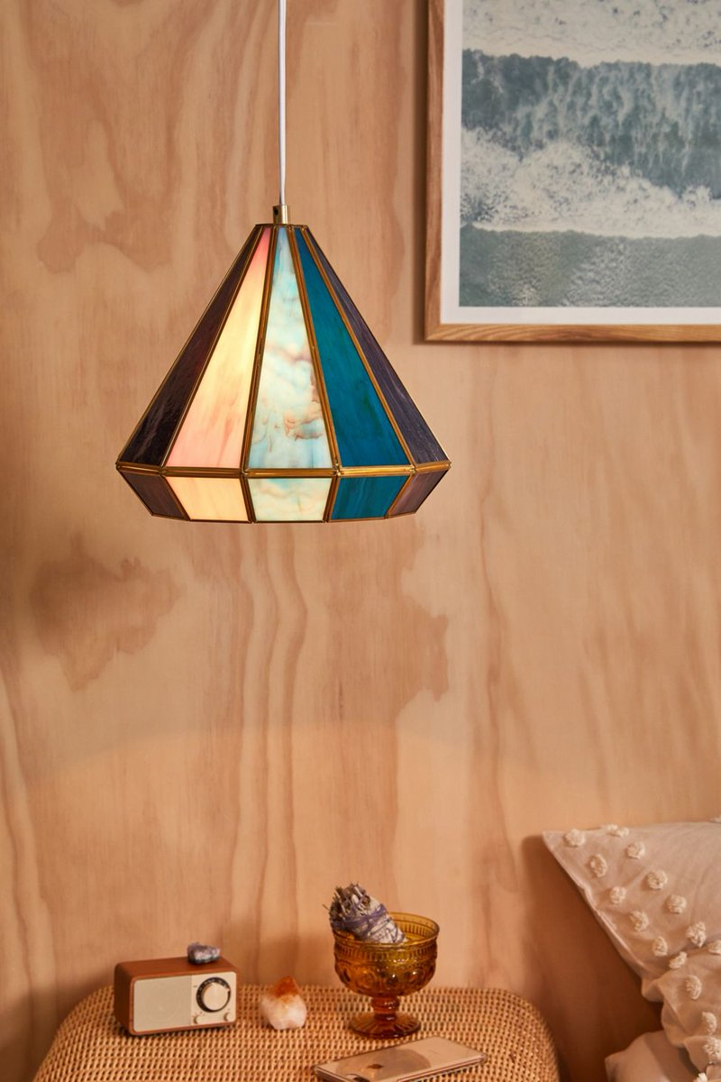 set the mood with pretty stained glass statement lighting bddy.me/2rV2R5b