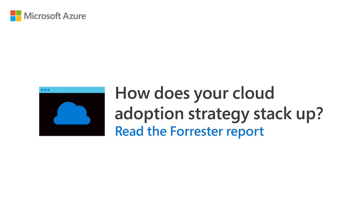 Is your company leading or lagging in #cloud adoption? Read the @Forrester report for more: http://msft.it/6011TTfBR