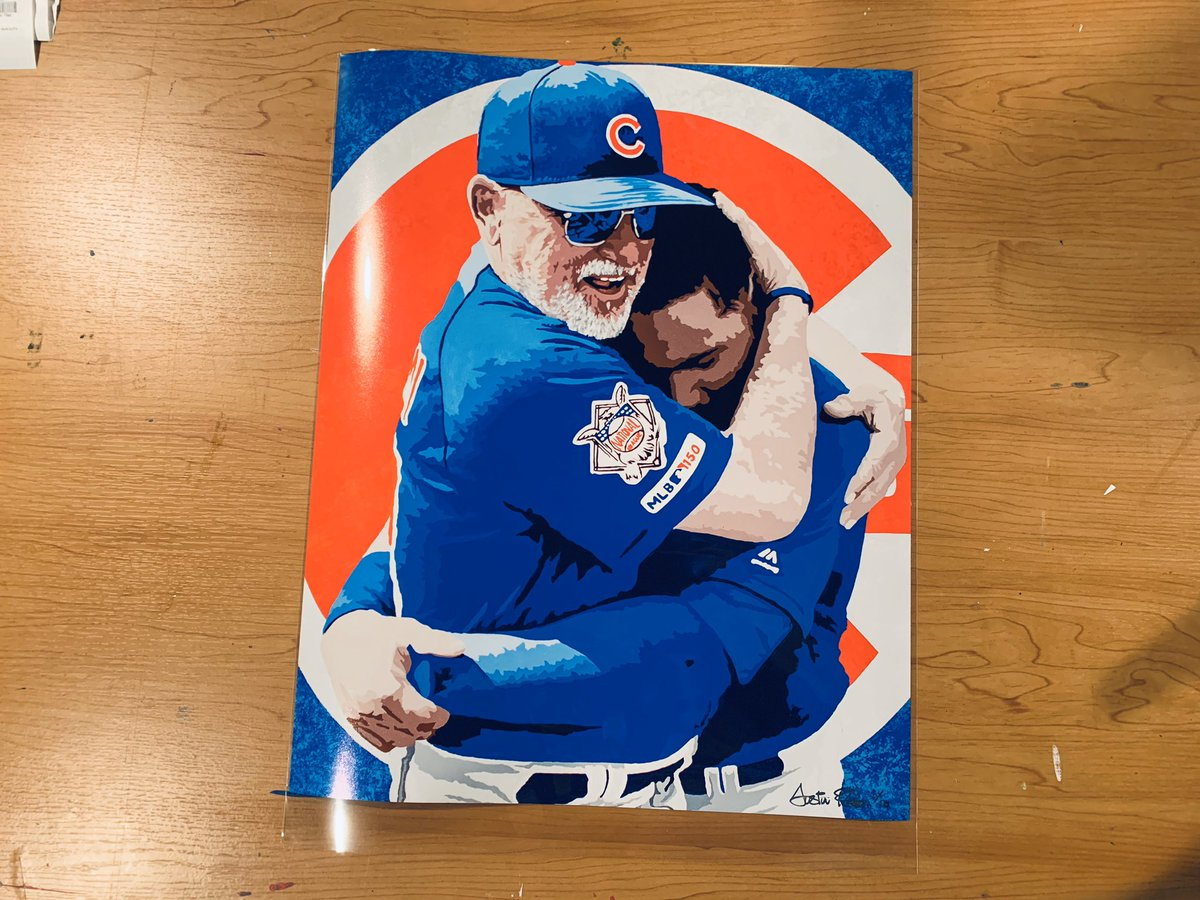 Sunday Funday Giveaway! I have 10 of these 16x20 Contreras/Maddon prints. One follower who RTs this by midnight wins 1/10. The other 9 will be available this Thanksgiving. Good Luck! <br>http://pic.twitter.com/iiHasxM6ff