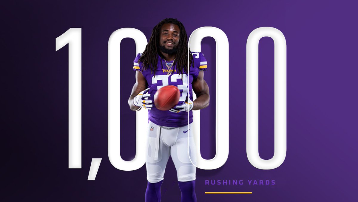 Vikings RB Dalvin Cook becomes 2nd RB to hit 1,000 yards in 2019