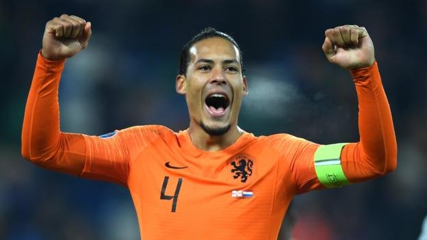 """Virgil van Dijk will not play in the Netherlands' final Euro 2020 qualifier at home to Estonia on Tuesday due to """"personal circumstances"""".Full story: https://bbc.in/2Qqh2cw"""