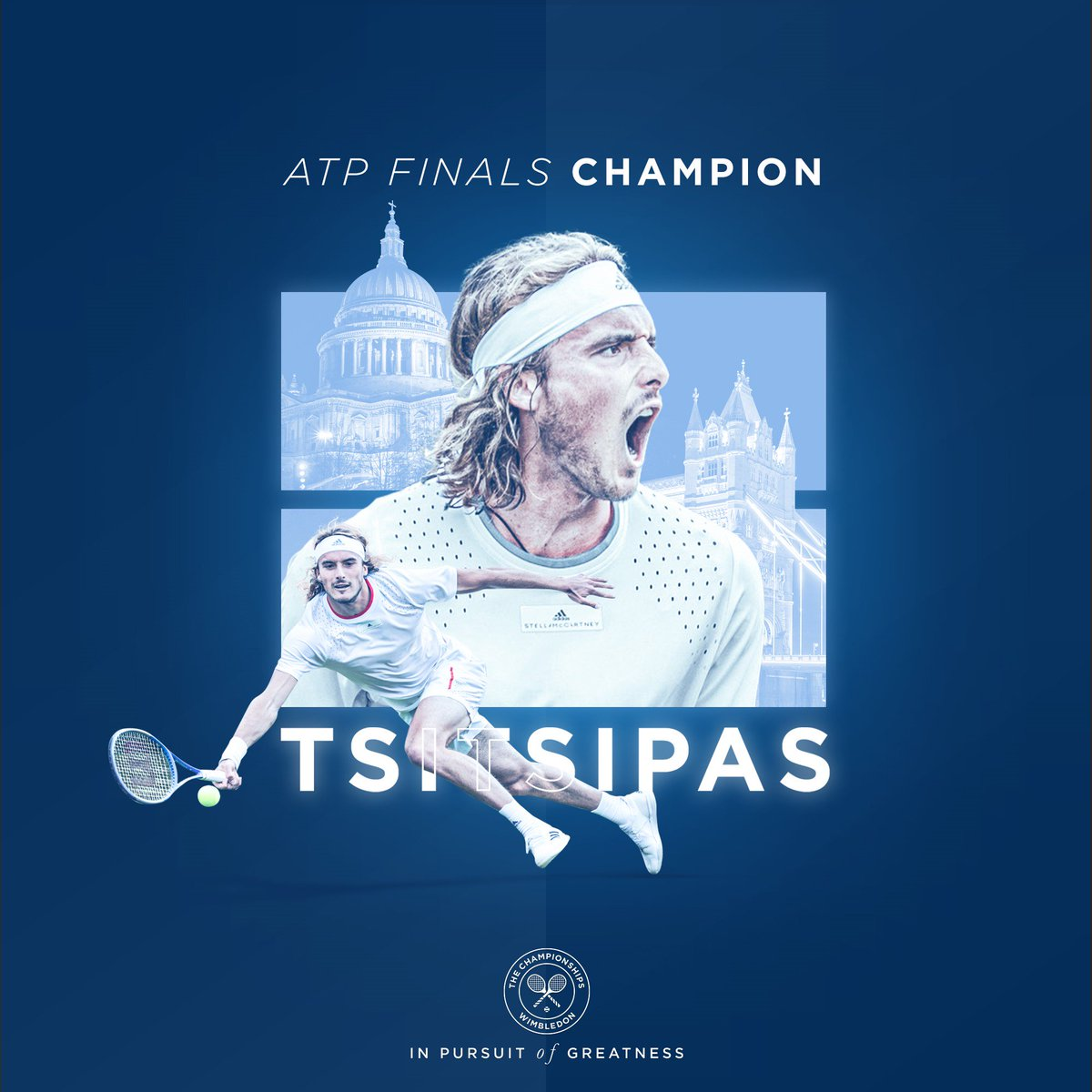 Greece has a new hero   @StefTsitsipas is crowned as the #NittoATPFinals champion in London  <br>http://pic.twitter.com/w5gOsnlCsr