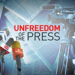 Image for the Tweet beginning: Unfreedom of the Press -