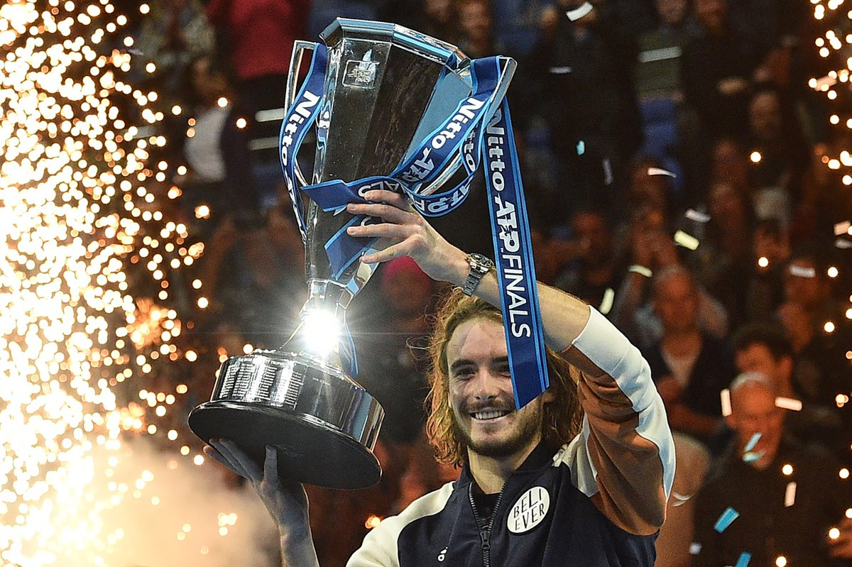 The biggest title of his career   @StefTsitsipas | #NittoATPFinals <br>http://pic.twitter.com/RE9ahSCnFI