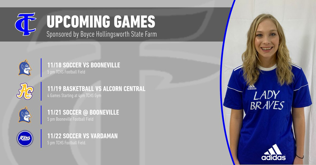 #takecharge and come support your Braves and Lady Braves this week. #builtbytc