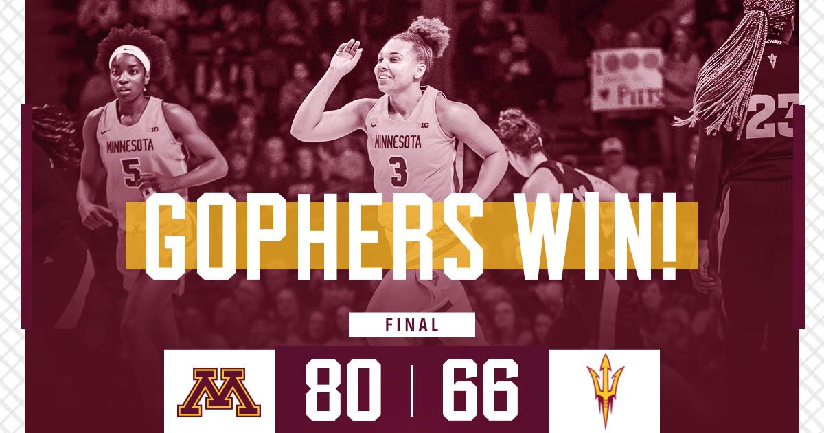 𝓢𝓽𝓪𝓽𝓮𝓶𝓮𝓷𝓽 𝓢𝓾𝓷𝓭𝓪𝔂.  The #Gophers knock off No. 19 Arizona State!