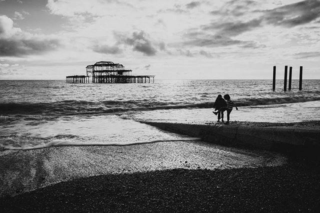 Brighton was ... well bright. #brighton #beach #pier #blackandwhite #blackandwhitephotography #travelphotography #blackandwhiteandcolor https://ift.tt/2QryOfq