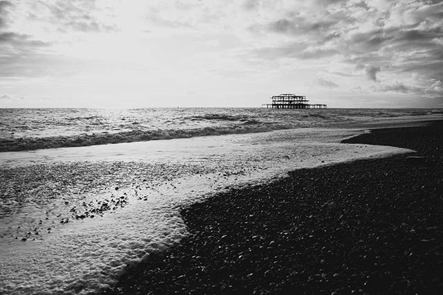 Brighton was ... well bright. #brighton #beach #pier #blackandwhite #blackandwhitephotography #travelphotography #blackandwhiteandcolor https://ift.tt/2OkN3zV