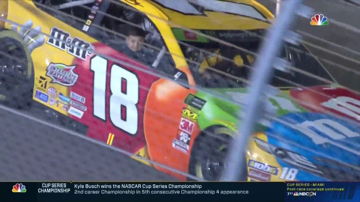 NASCAR: Kyle Busch's special title celebration with 4-year-old son
