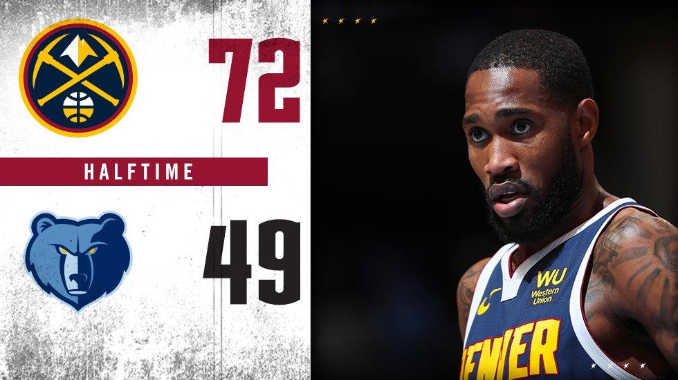 Yes...halftime.  #MileHighBasketball