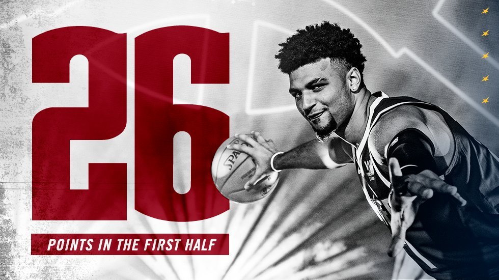 Jamal was 🔥🔥🔥 in the first half!  26 is the most he's ever had in a first half!