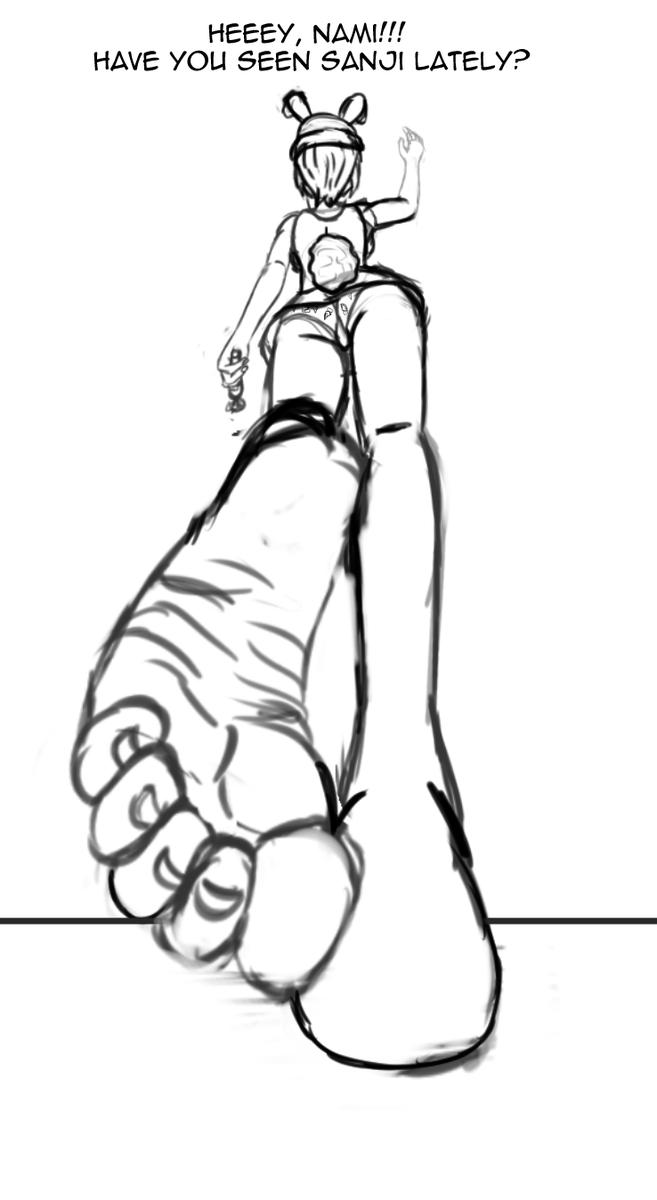 Nami giantess Luffy's Big