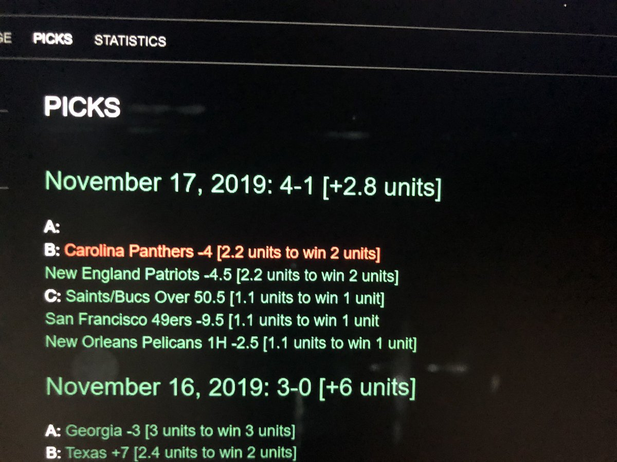 Feels great to be on the winning side in the 49ers game 🤣 Another great day, as we move to up 4.4 units overall. Subscribe now to see daily picks for just $4.49 per month. http://letswinbets.com  #GamblingTwitter #picks #sportsgambling