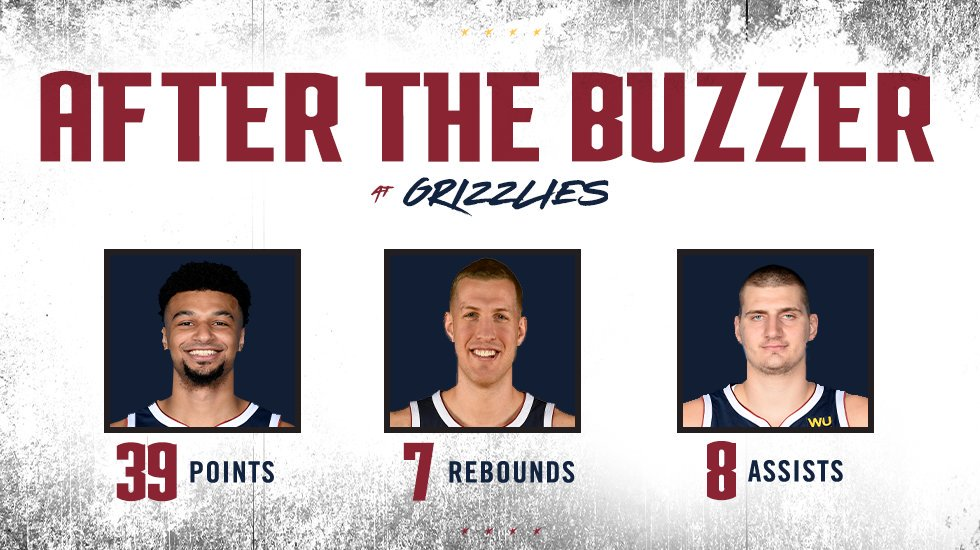 Strong showing from everyone.  #MileHighBasketball