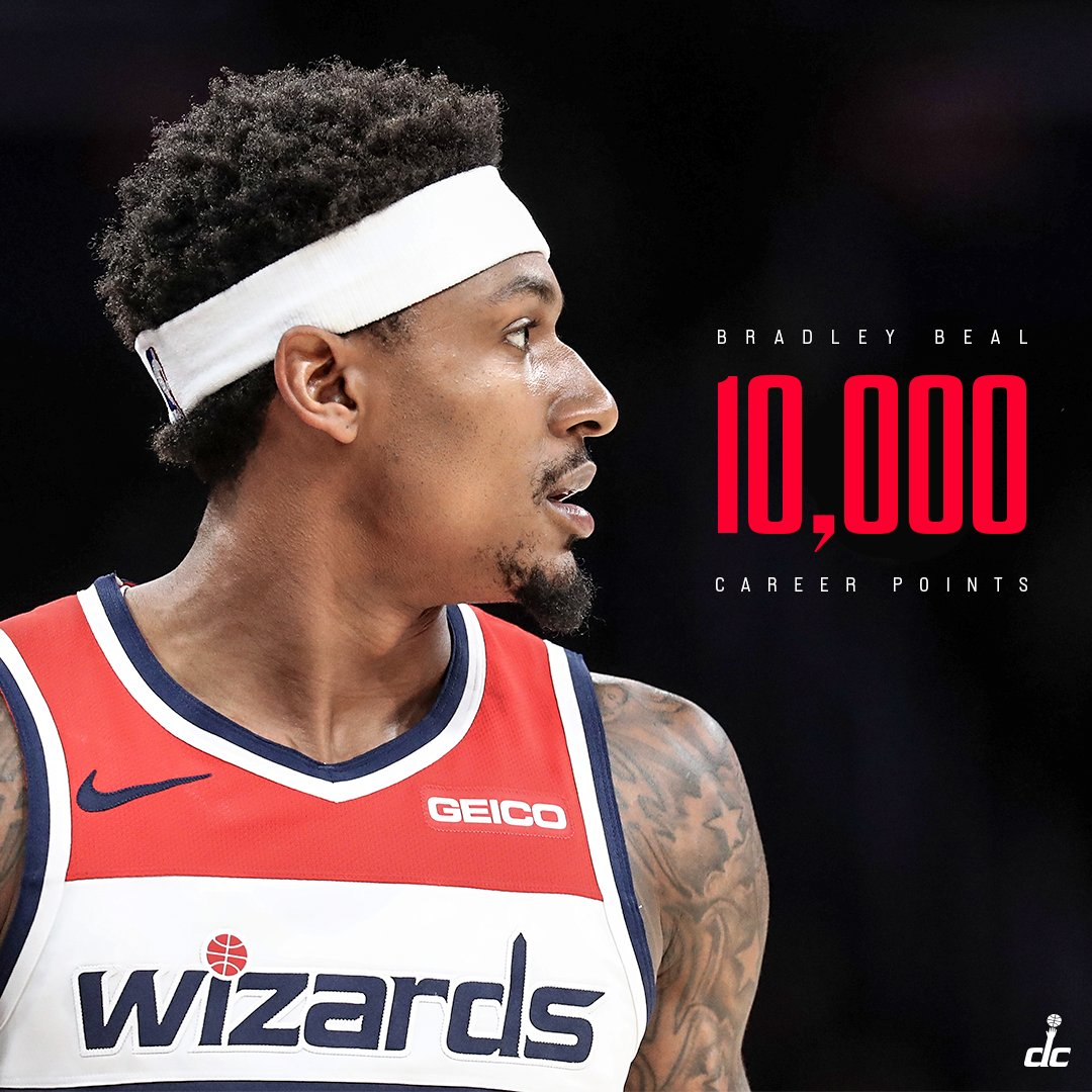 One of five players in franchise history with 10,000 points.  #RepTheDistrict | @RealDealBeal23