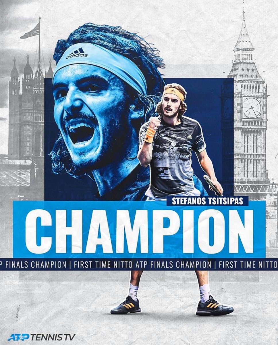 Stefanos Tsitsipas wins and makes history, becoming the first Greek tennis player to win the Nitto ATP Finals #Tsitsipas #TsitsipasThiem #ATPFinals2019 #ATPFinals #greece<br>http://pic.twitter.com/jlodbNlvoY