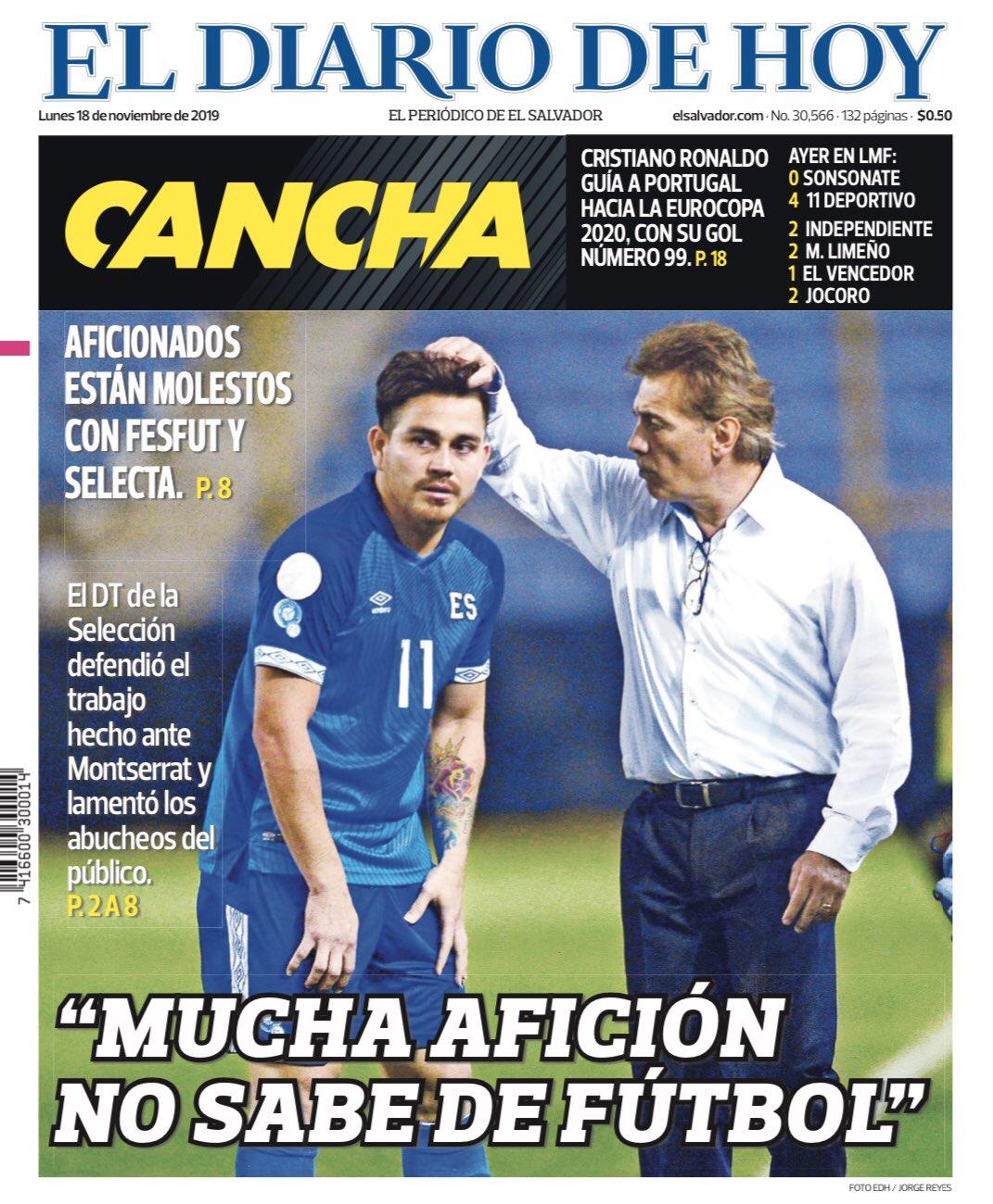 Liga de Naciones CONCACAF 2019: El Salvador 1 Montserrat 0. EJoG-rZWkAANtPm?format=jpg&name=large