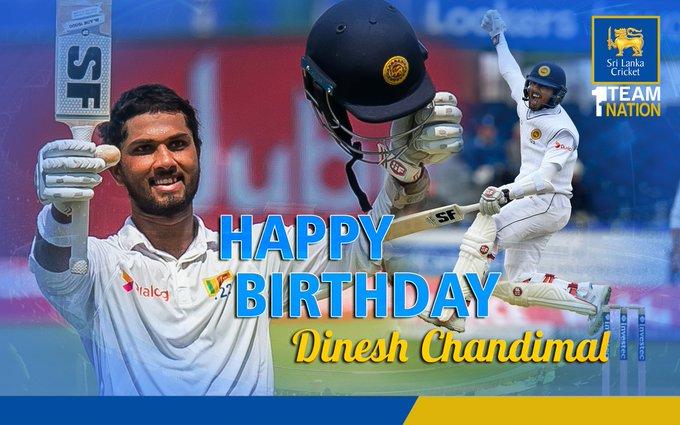 Happy Birthday to Dinesh Chandimal! He turns 30 today!