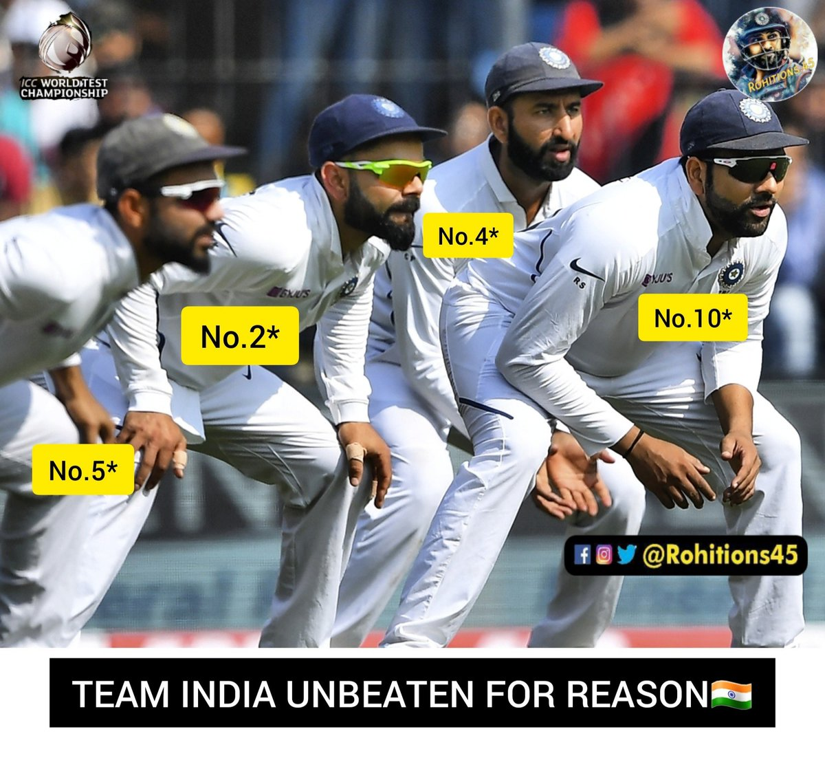 Soon @mayankcricket Will Join Top 10🙈@ImRo45 @ritssajdeh @soumitraro45@imVkohli @cheteshwar1 @ajinkyarahane88#TeamIndia #rohitions45 #indvssa #indvsa #rohitopensagain #rohitsharma #rohitsharma45