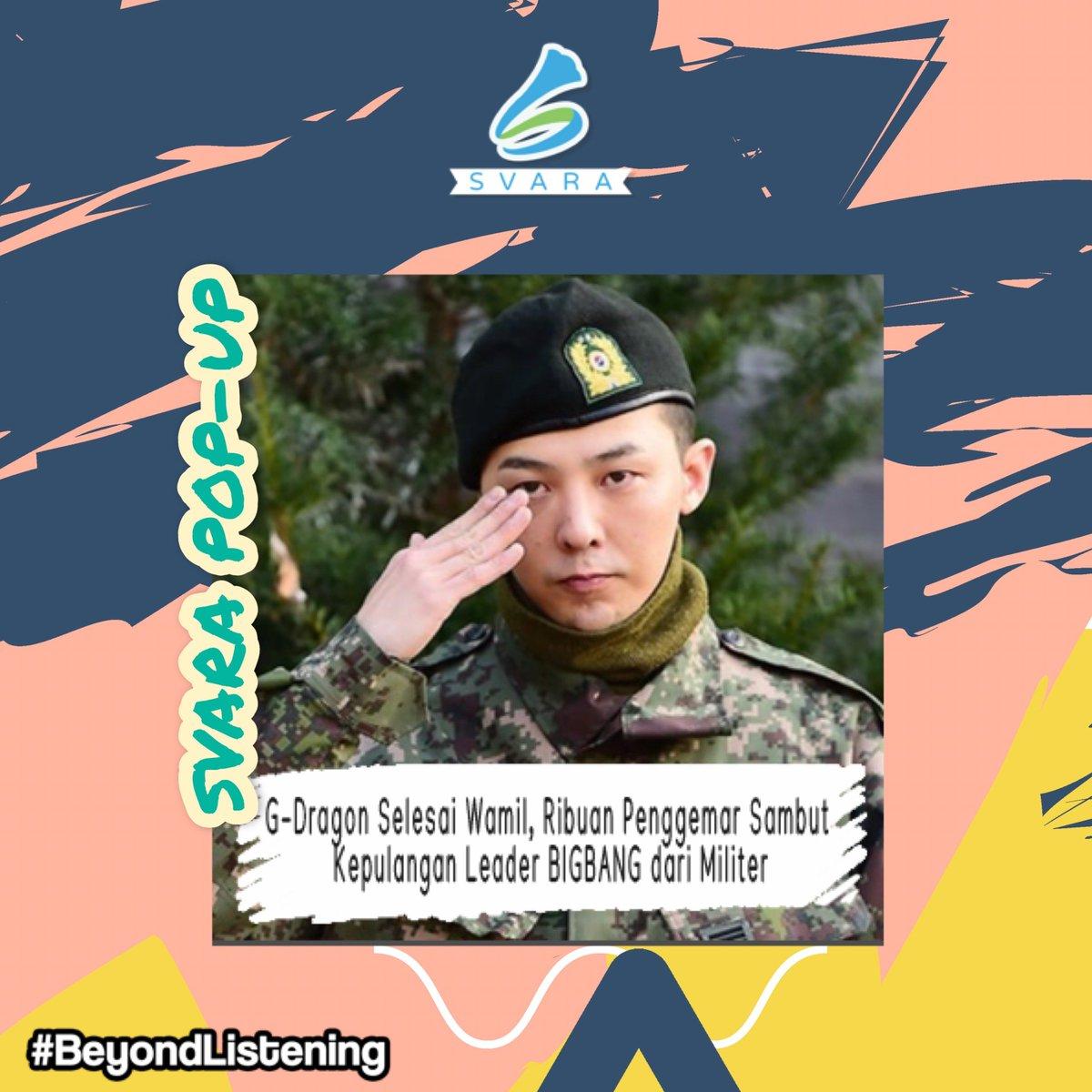 Bintang KpopG-Dragontelah menyelesaikan wajib militernya pada Sabtu (26/10/2019) pagi !! Sejumlah tagar kabar ini sempat menduduki daftar trending di Twitter. Seperti #ONE_OF_A_KIND-GD dan #KwonJiYong_Free_LiketheWind untuk menyambut sang idolanya itu! . #SVARA #beyondlistening pic.twitter.com/GW16ndxPfG