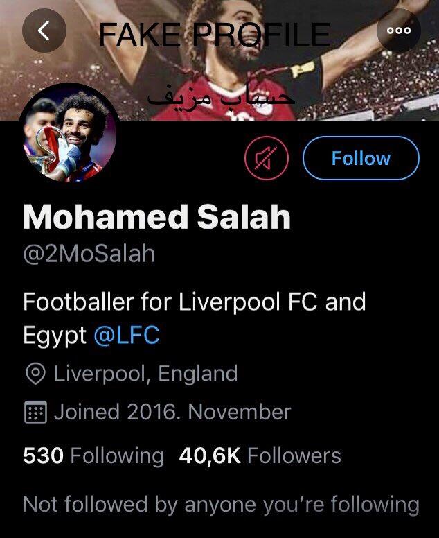 Please report @2MoSalah fake profile for @MoSalah #mosalah #liverpool #Liverpoolfc @LFC_Arabic @LivEchonews @LFC بليز ريبورت @2MoSalah  حساب مزيف ل محمد صلاح @MoSalah #جزر_القمر #محمد_صلاح