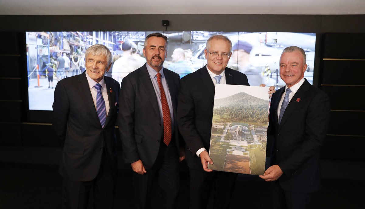 An honour to unveil the official plans for the Australian War Memorial Project in Canberra today. This is the largest investment in upgrading the Memorial since it was first opened in 1941 #LestWeForget