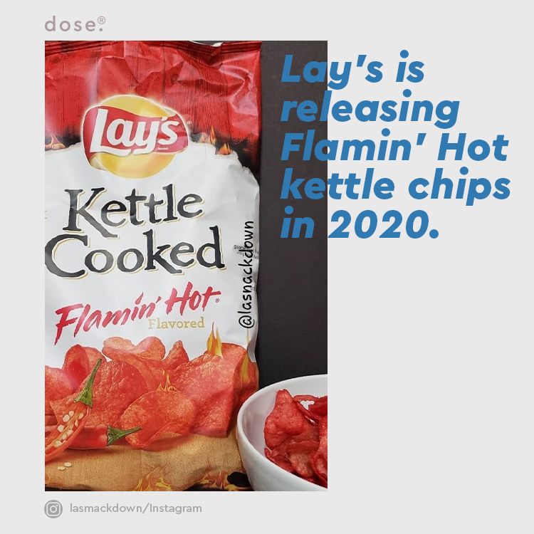 Flamin' Hot Lay's chips already exist, but these new ones will be kettle cooked, making them a lot crunchier. The chips will be available in early February.