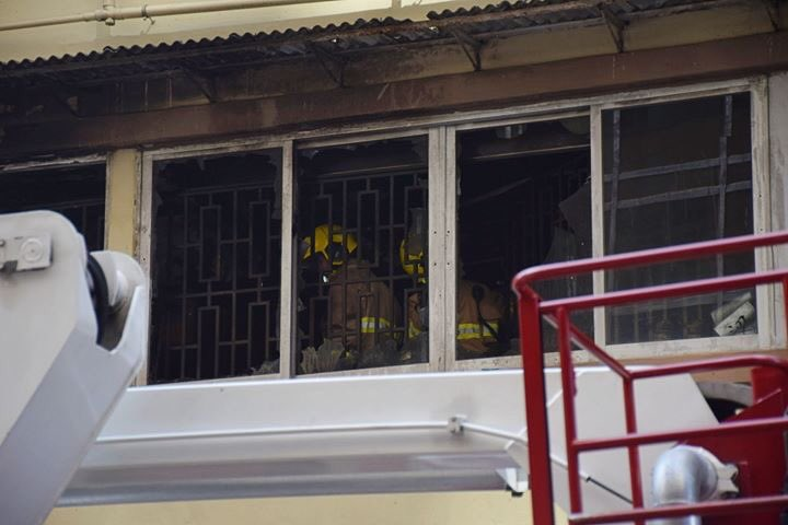 In Jordan, riot police fire a tear gas canister into a resident's flat, causing flames. The resident was not home, but returned in tears. Photo: InMedia. #hongkong