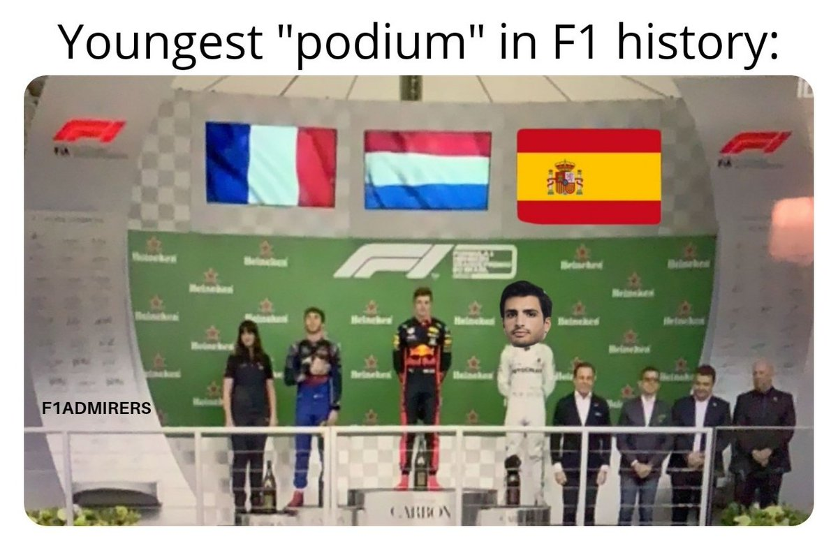 While we unfortunately didn't get to see all 3 drivers on the podium together, it did beat the previous record set by the top 3 drivers of the 2008 Italian GP. -- #BrazilianGP #Interlagos #Verstappen #Gas10 #CarlosSainz #Carlo55ainz #HondaRacing #F1jp #F1 #FormulaOne #F1FastFact https://t.co/pmv6hZYygL