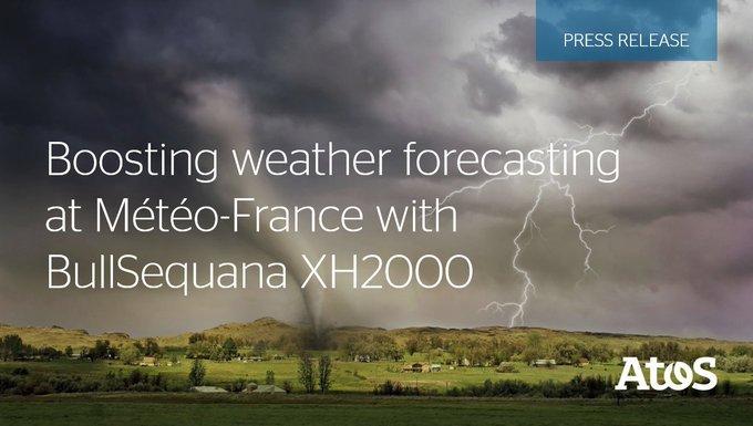@Atos entrega dos nuevos supercomputadores #BullSequana XH2000 a Météo-France para aumentar la...