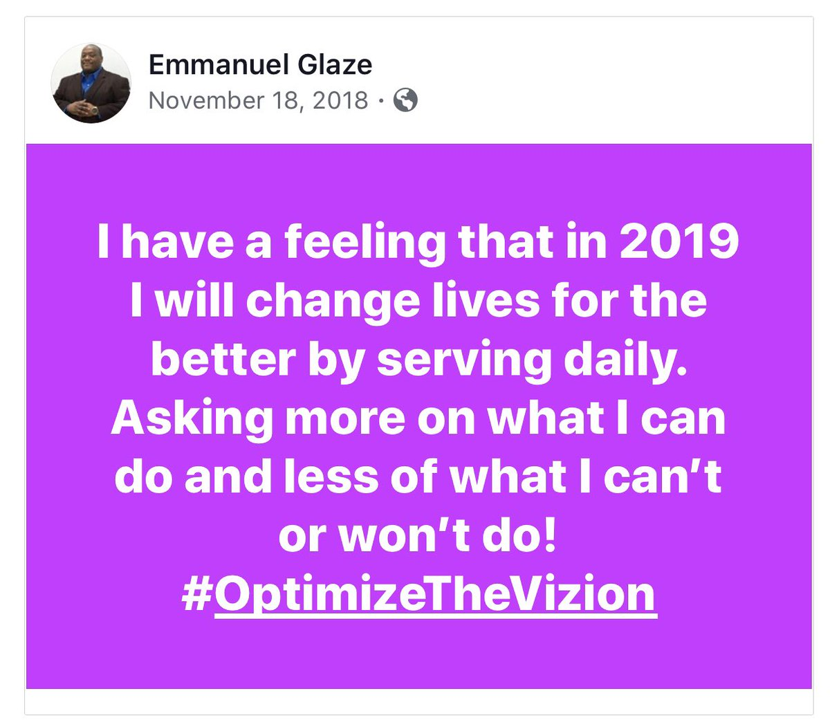 #Facebook posted this reminder of what I said one year ago today. Wow! We spoke it and we were able to achieve it. Now let's continue to grow and build! @optimizethevizion  #sports  #exposure  #possibilities