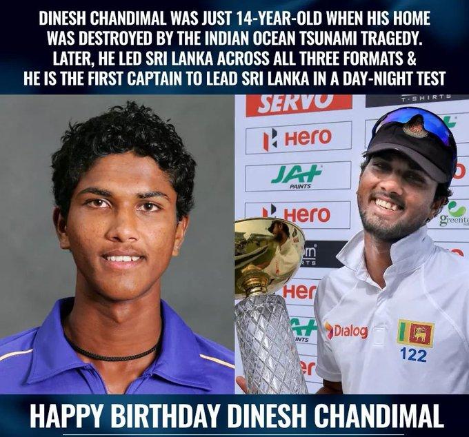 Happy Birthday Dinesh Chandimal!