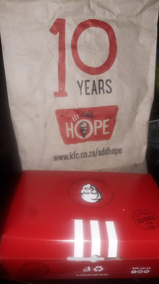 Today i decided to join @KFCSA in their quest to add hope to the less priviledged of our society and yes for their support of #KFCProposal <br>http://pic.twitter.com/JMEz1SxhNR