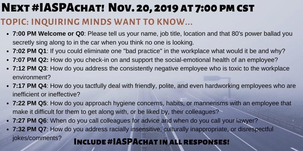 Please join us for #IASPAchat this Wednesday night!