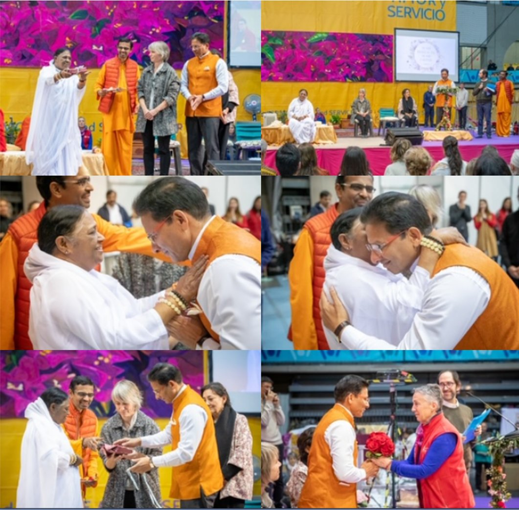 Embassy witnesses Amma's love and service in SpainAmma spread the Indian ethos ¨Sarva Dharma Sambhava¨.More than 100000 Spaniards thronged to seek hug and experience the Indian spiritual luminary's compassion for all.@Amritanandamayi