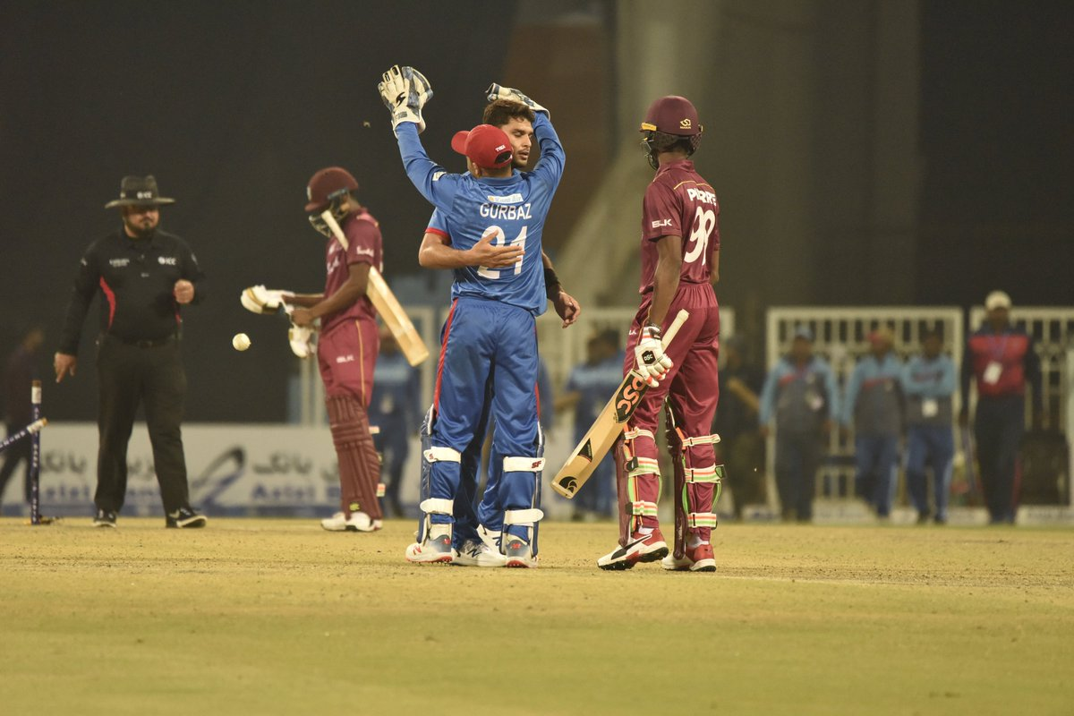 Gurbaz blitz helps Afghanistan clinch T20 series win over Windies.#AFGvWI #India #T20I #T20WorldCup #RashidKhanPicture Courtesy: