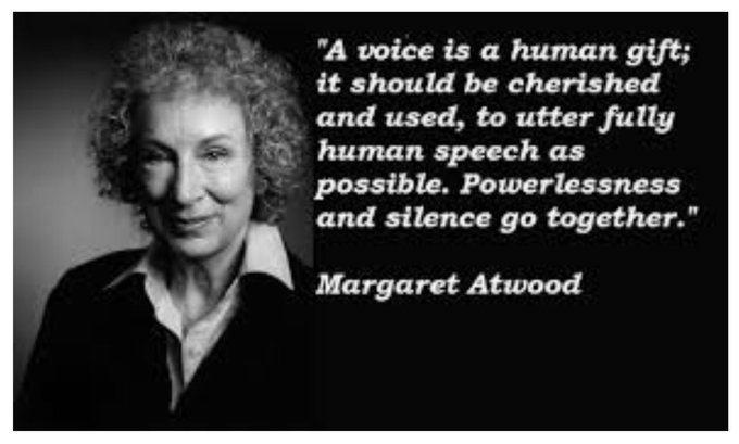 Today the Canadian writer Margaret Atwood turns 80. Happy birthday, Ms. Atwood!
