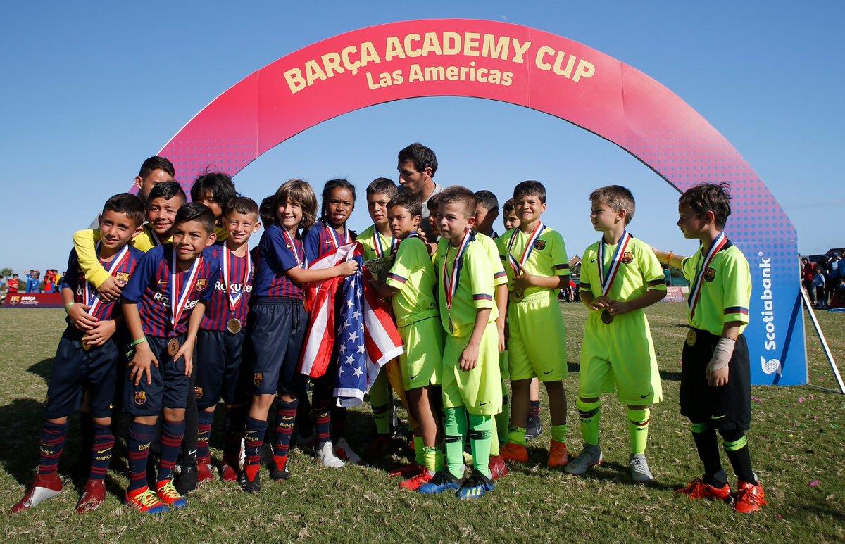 🇩🇴🇨🇴🇲🇽🇪🇸🇧🇷🇨🇦🇺🇸🇨🇷🇵🇪 La #BarçaAcademyAmericas Cup más grande de la historia, con 600 deportistas, regresa a Dominicana ⚽🏆🏖🌞🎉 http://barca.link/zPSb50xdpVs