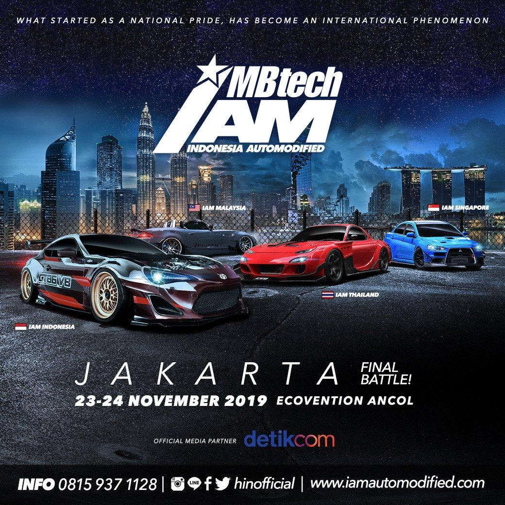 INDONESIA AUTOMODIFIED (IAM MBTECH ) JAKARTA 2019Saturday-Sunday23-24 November 2019 (2 DAYS)Ecovention Ancol.More Info :Husna : 0812-8546-9116#IAM #iammbtech #cars2burgers #jakmodfest  #hinofficial #iamalliance