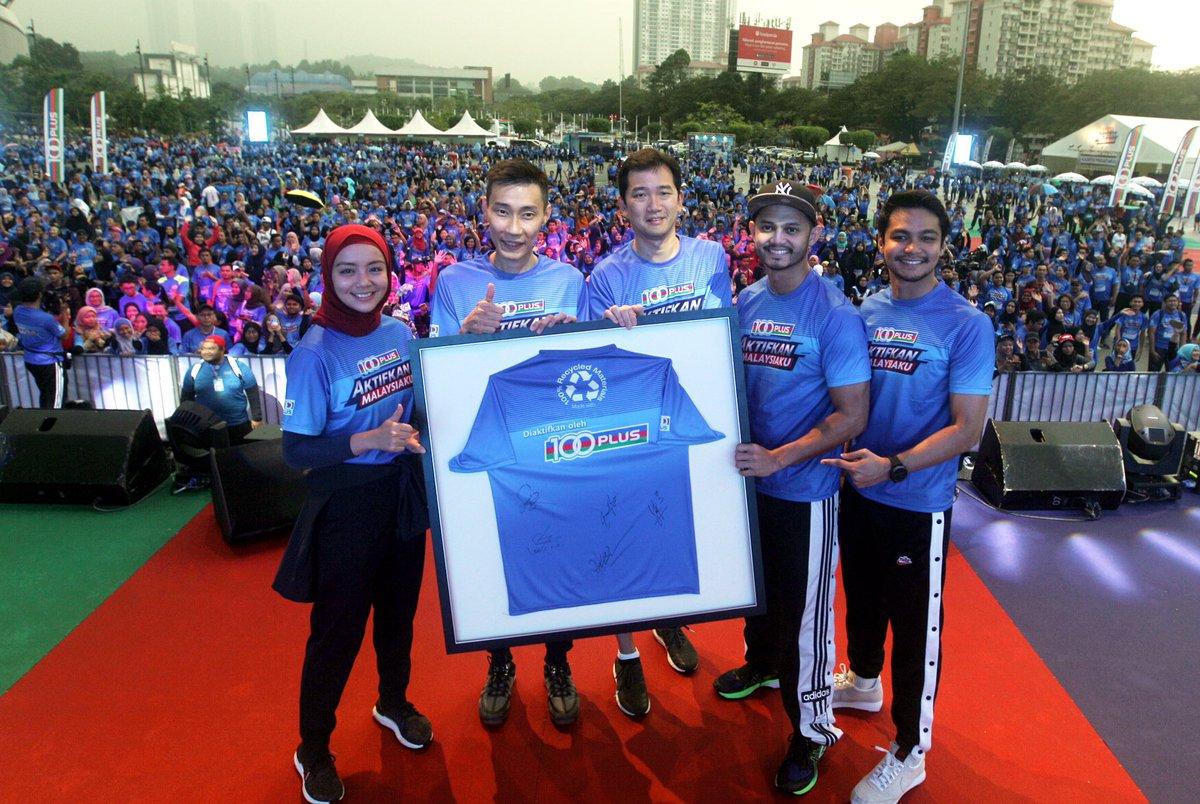TERIMA KASIH RAKYAT MALAYSIA! 🇲🇾🏃♂🏃♀  100PLUS Malaysia ingin mengucapkan jutaan terima kasih kepada lebih 10,000 peserta yang menyertai #Hari100PLUSAktifkanMalaysiaku pada hari Sabtu lalu di Stadium Nasional Bukit Jalil, KLSC. https://t.co/psC6ceUxKM