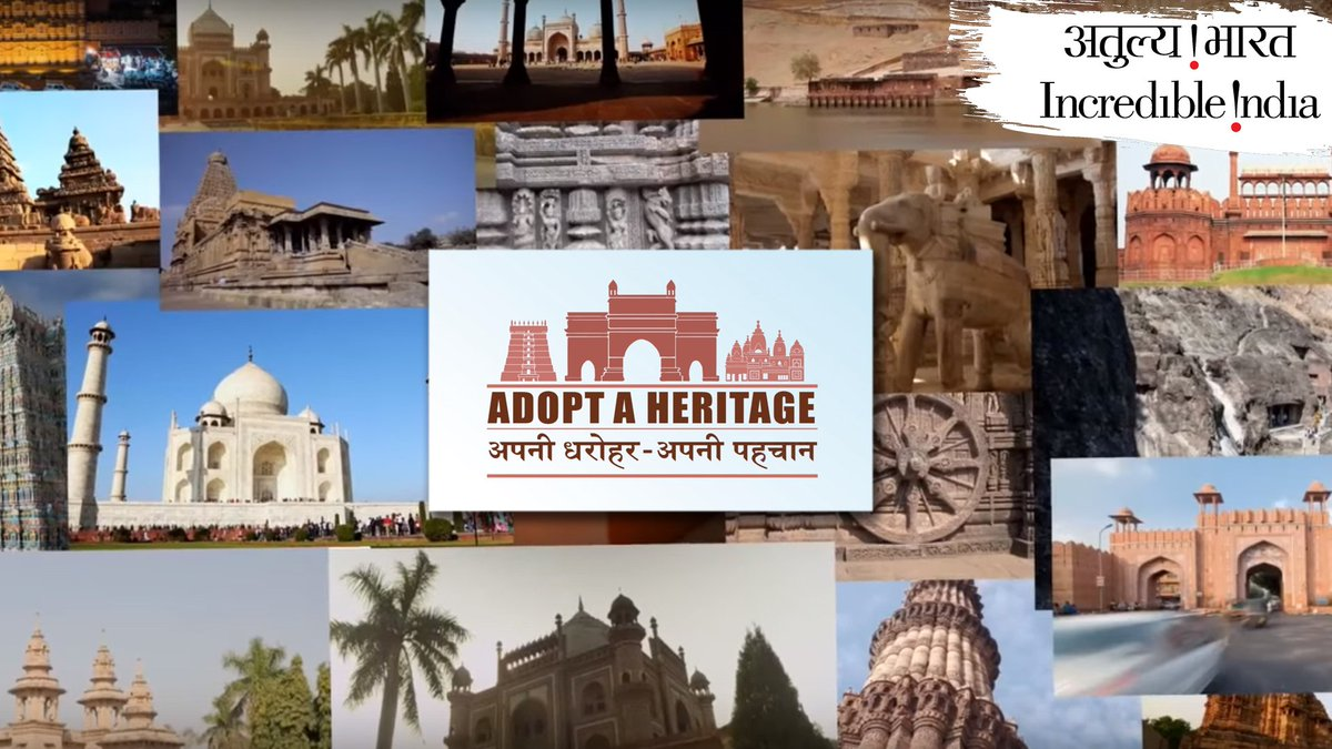 Want to #AdoptAHeritage? Become a 'Monument Mitra' by adopting your favorite #Monument.For more info, visit : http://adoptaheritage.in#MinistryOfTourism #MinistryOfCulture #ArchaeologicalSurveyOfIndia #IndianHeritage #WorldHeritageWeek #Heritage #IncredibleIndia