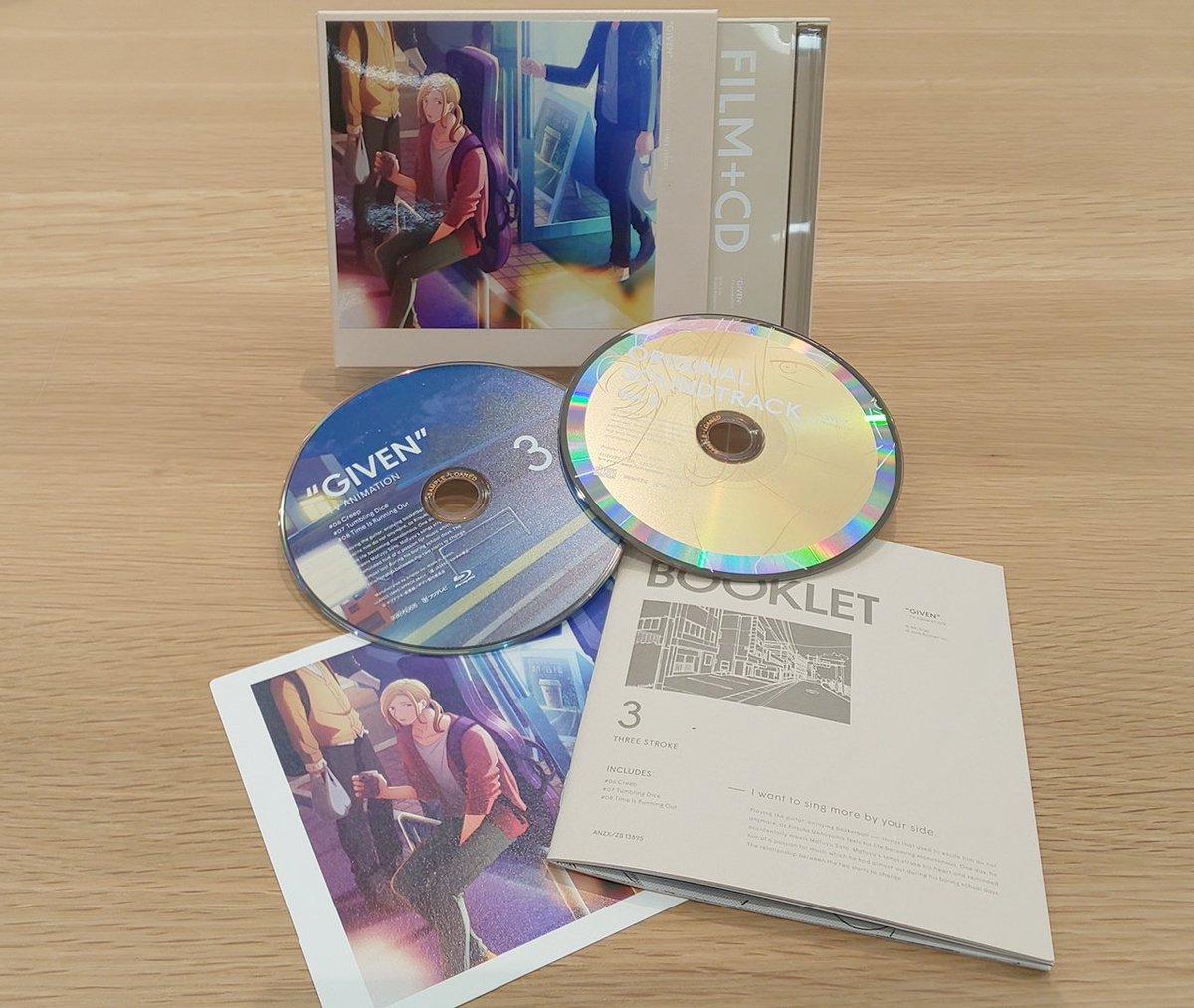 【11/27発売🎸】BD&DVD3巻のサンプルが届きました!まもなく発売ですね~🎵特製ブックレット(キヅ先生描き下ろし漫画掲載)、物語を彩った楽曲が多数収録されたオリジナル・サウンドトラックCD など豪華特典つき🌟詳細:サントラ視聴: #ギヴン