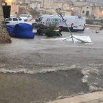 Image for the Tweet beginning: L'ondata di maltempo che ha