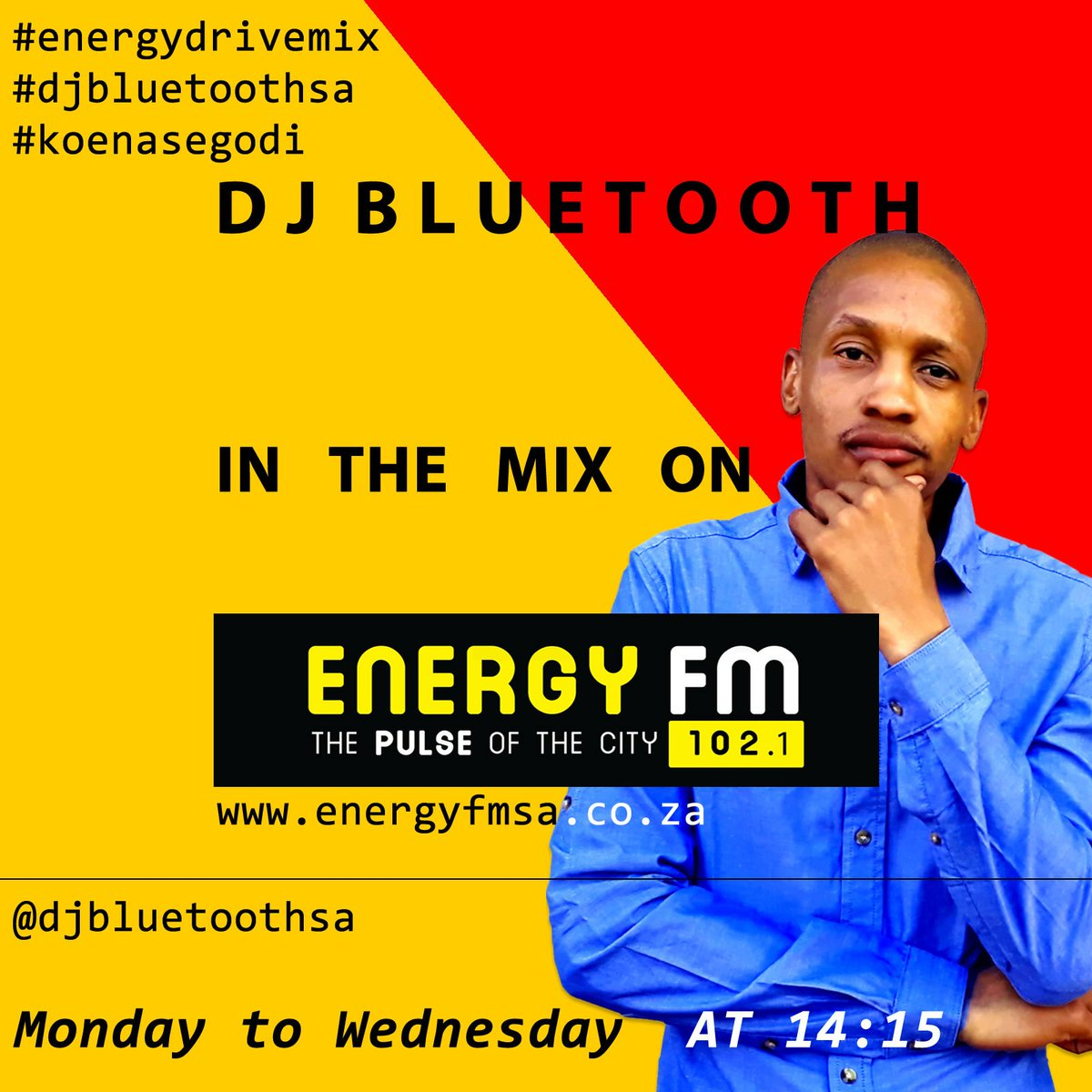 it's a Monday, do tune onto @EnergyfmSA & @choicefmsa for my #energydrivemix  #energydrive #energyfmsa #djbluetoothsa #koenasegodi #segodipropic.twitter.com/xEPEkARDtw