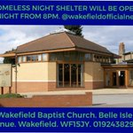 Image for the Tweet beginning: Night shelter will be open