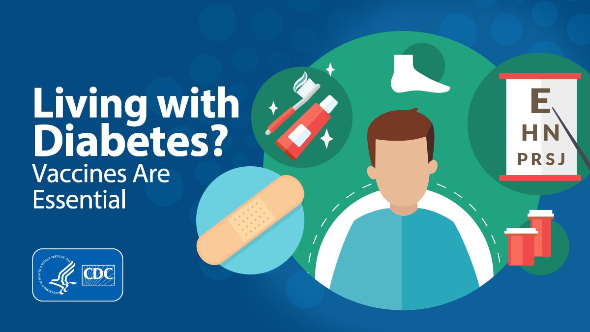 test Twitter Media - Are you or someone you love living with #diabetes?   This #DiabetesAwarenessMonth, be aware that you may be missing an essential step to staying healthy!   Find out why vaccination is important: https://t.co/3JtLk39pGe. https://t.co/jbSHHbuIOX