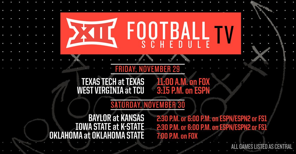Game Time, TV Channel Set For Oklahoma-Oklahoma State