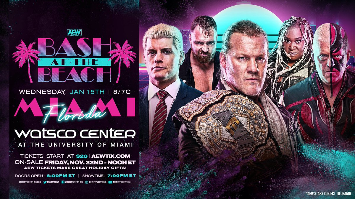 "Why AEW Can Use ""Bash at the Beach"" Name"