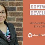 Image for the Tweet beginning: Erica came to devCodeCamp with