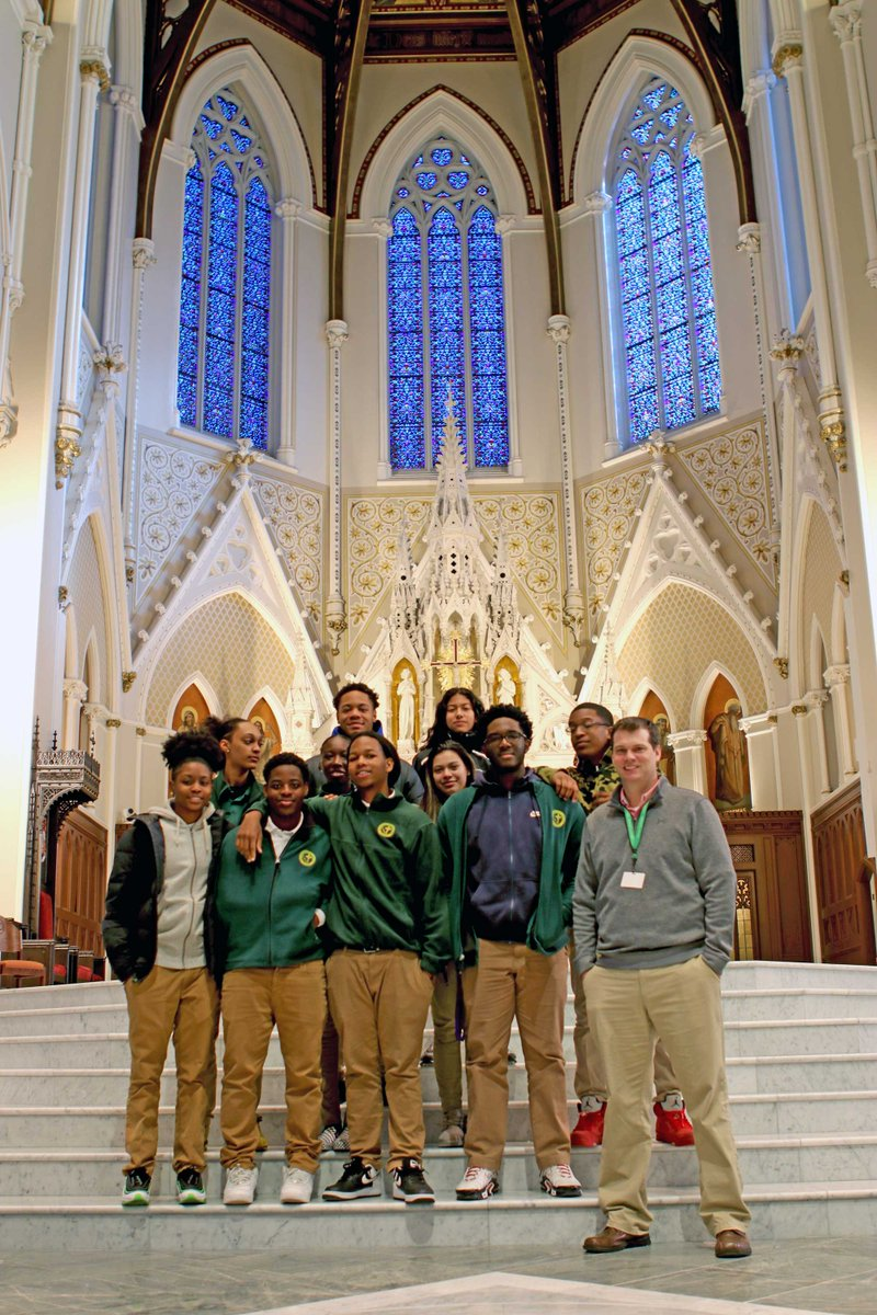"test Twitter Media - Seniors taking an elective ""History of Boston"" class with History Department Chairperson Pat McCloud enjoyed a guided, history-focused tour of their neighbor and mother church, @BostonCathedral.  #AppliedLearning 